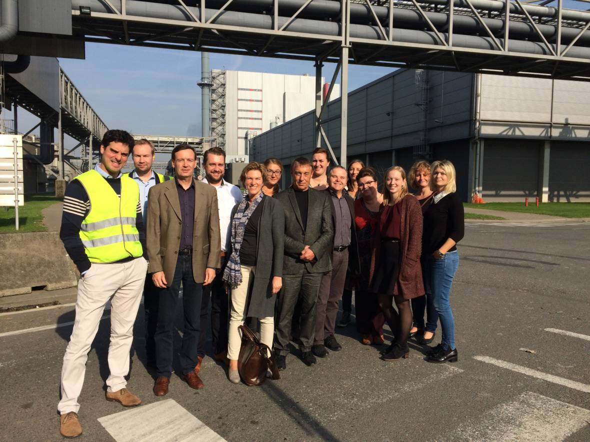 October 16 – 18, 2017: SMeART team visits the Stora Enso Langerbrugge in Gent
